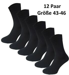GARCIA-PESCARA-12-X-Par-Classic-Calcetines-Medias-Algodon-Negro-Talla-43-46