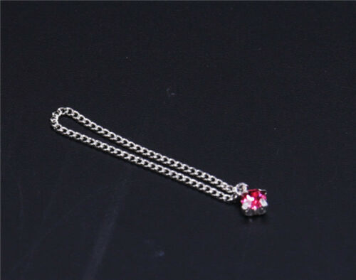 """Custom 1:6 Scale Red Ruby Necklace  For 12/"""" Female PH UD Body Doll"""