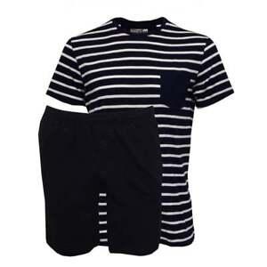 1ef2069b Jockey Striped Short-Sleeve Jersey T-Shirt & Shorts Men's Pyjama Set ...