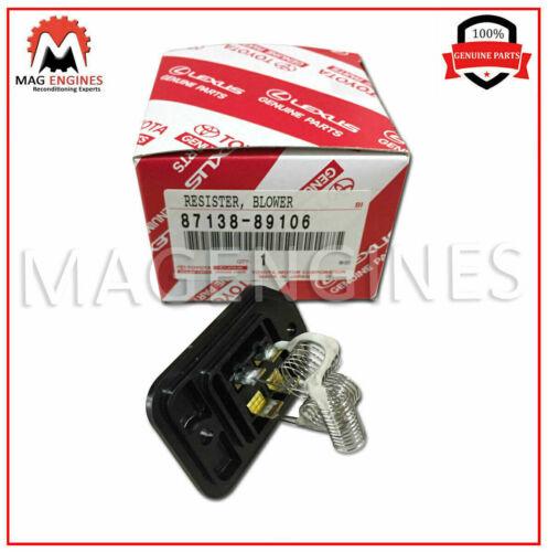 87138-89106 Genuino OEM Calentador Soplador Resistor 8713889106