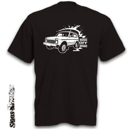 T-shirt Niva 2121 auto motivo 4x4 todoterreno Jeep SUV Youngtimer todoterreno ruedas