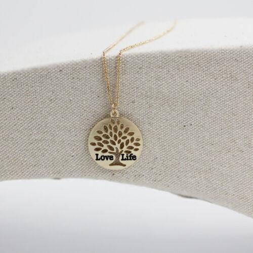 Colgante vida árbol collar 45+7cm árbol de la vida Love Life