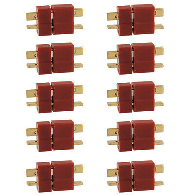 New 10 Pairs Ultra T Plug Male and Female Connectors For Deans RC Lipo Battery