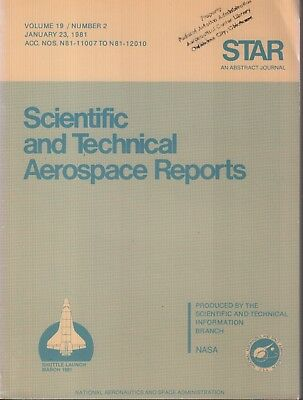 Collectibles Nasa Star Volume 19 #2 January 23 1981 Abstract Journal Ex-faa 121918ame2 With A Long Standing Reputation Nasa Program