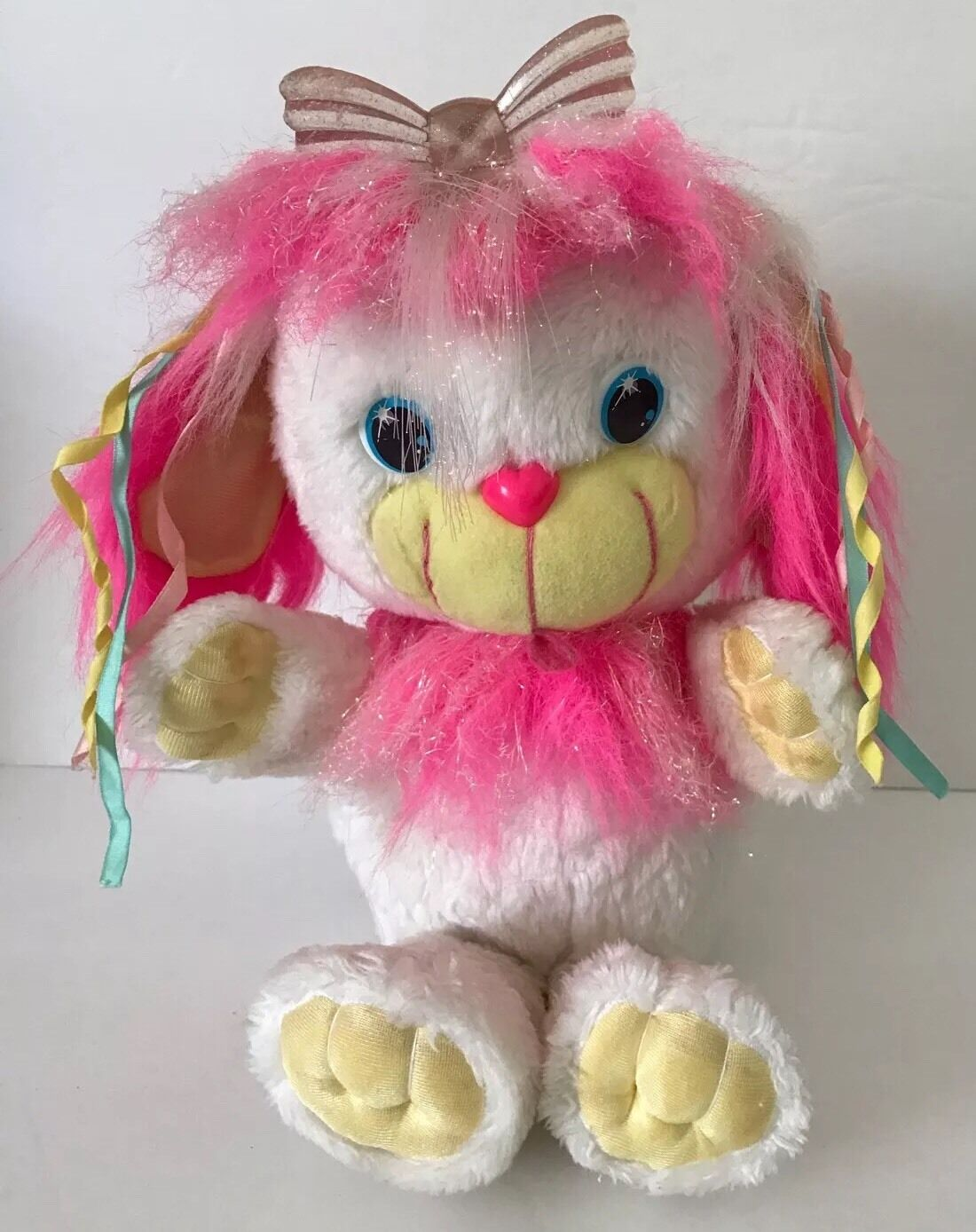 1991 Dreamworks CuddleBrites Lilly Lite Fiber Optic Plush Dog Fairy Kei Works