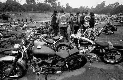 Hells Angels Motorcycle Gang California Rally 60/'s Glossy 8x10 Photo