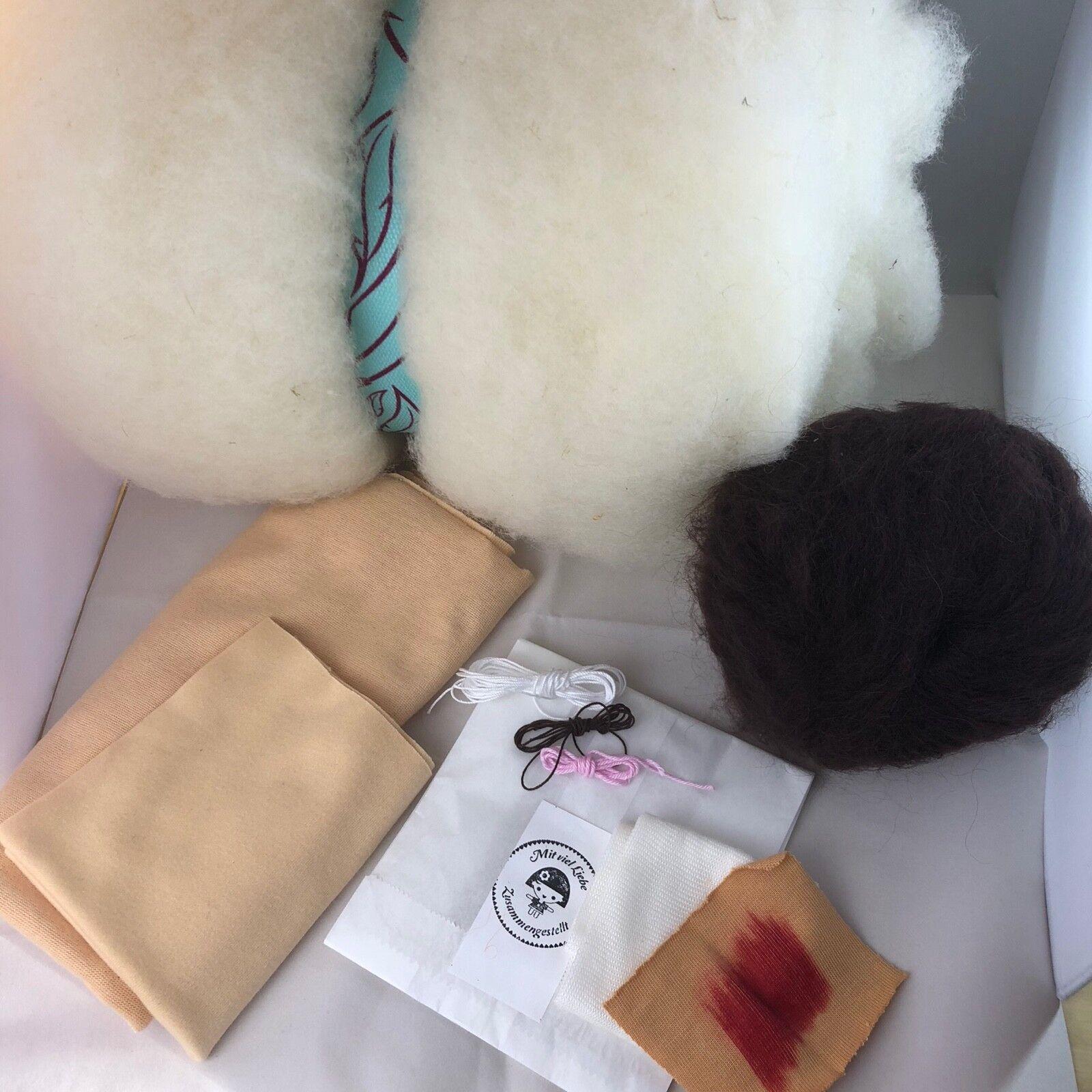Inklusive Schnittmuster Bis 45cm Material Paket Waldorfpuppe Waldorf Puppe stoff