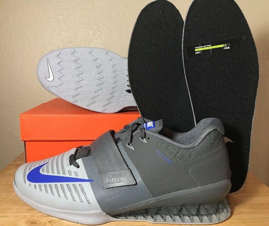 Nike romaleos 3 krafttraining schuhe am grauen (852933-001) blaue männer neue (852933-001) grauen 8a737e