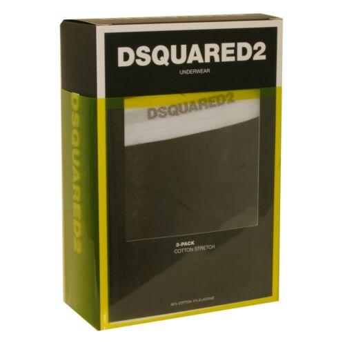 in 3 pezzi Tronco da elasticizzato a bassa uomo vita da Dsquared2 di cotone nero cotone 87wORqF