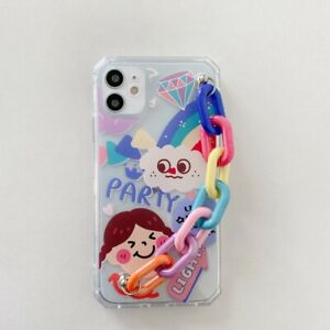 COQUE IPHONE+CHAINE CARTOON IPHONE X XS XR IPHONE 11 11 PRO 11 PRO MAX