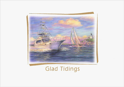 glad tidings glitter 15 nautical boxed year cards by red farm studios ebay