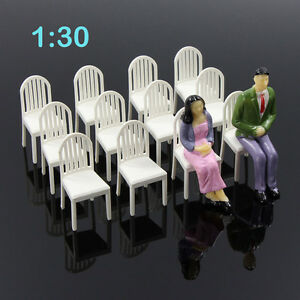 ZY18030-12pcs-Model-Train-Railway-Leisure-Chair-Settee-Bench-Scenery-1-30-G