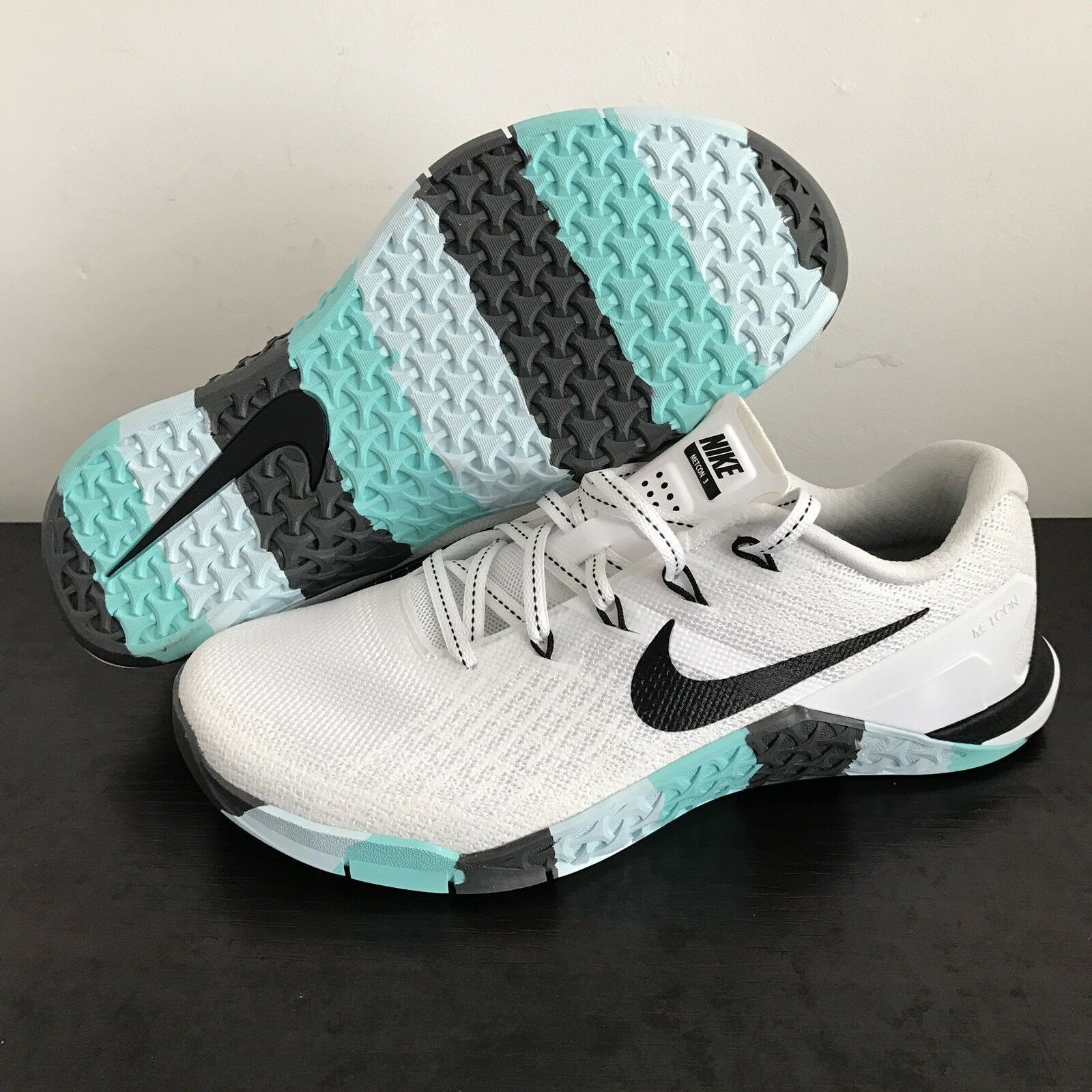 Nike Metcon 3 White Black Grey Teal 849807-101 Cross Training Women Sz 7 The latest discount shoes for men and women