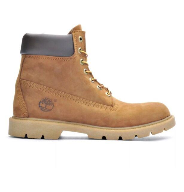 Men's Shoes Timberland 6 Inch Basic Waterproof BOOTS 19076 Rust Nubuck 11