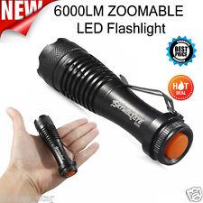 6000LM CREE Q5 AA/14500 3 Modi ZOOM LED Super Bright Taschenlampen Polizei Torch