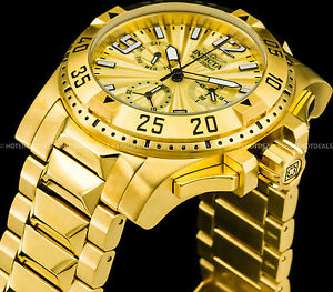 fa951848b97 Details about Invicta 50mm Men s Excursion Swiss Z60 Chronograph 18K Gold  Plated 200MT Watch !