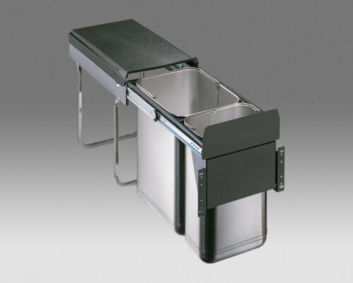 Wesco Einbau Mülleimer Abfallsammler Auszug Edelstahl Fronttürmontage