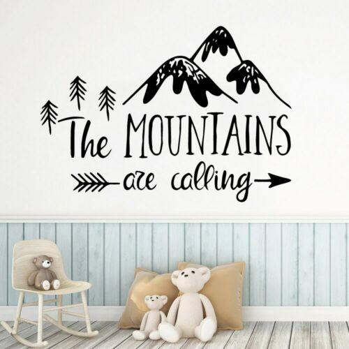 Sculpté montagne Papier Peint Maison Wall Sticker Nursery Wall Decor Mural Poster
