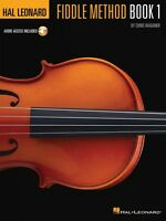 Hal Leonard Fiddle Method Sheet Music Violin Instruction Book / Audio 000311416
