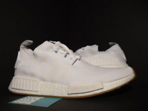 new product ed1e7 50cff Details about ADIDAS NMD R1 PK PRIMEKNIT GUM PACK WHITE BROWN BLACK ULTRA  BOOST BY1888 R2 8.5
