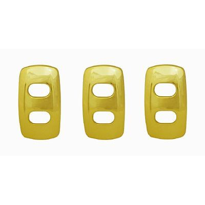fits Kenworth 2008 onwards 3 pack Gold Rocker switch covers