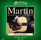 Martin M170 CONFEZIONE DA 3 Corde Per Chitarra Acustica Bronzo Extra Light 10 47