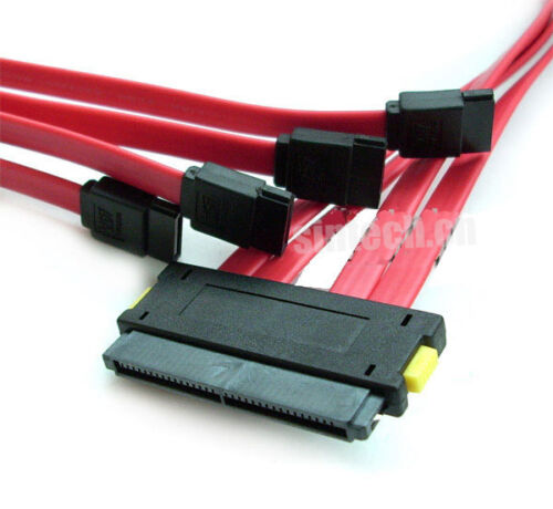 Sintech SCSI SAS SFF-8484 32Pin to 4 SATA 7Pin HDD Controller Cable 50cm