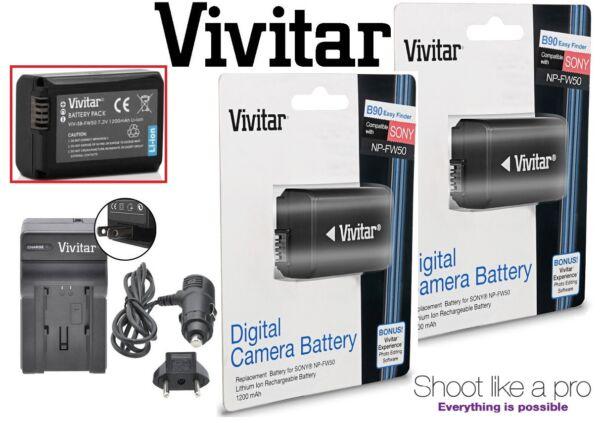 Appris 2-pcs Np-fw50 Batterie Li-ion Avec Chargeur Rapide Pour Sony Dsc-rx10 Moelle Iii