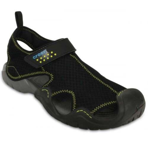 misure ux7 Mesh 15041 Tutte vari Crocs Swiftwater in Mens le Sandali Black colori 0 Charcoal Upper Textile 68BTZqg