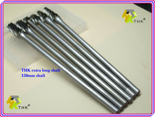 10MM OVAL THK Tungsten Carbide Rotary ALUMINUM CUT DRILL BURRS 6MM Shank E10-150