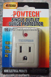 Single-Outlet-AC-Wall-Plug-Surge-Protector-Power-Suppressor-90-Joules-1875W-15A