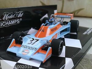 37-Tyrrell-Ford-007-Gulf-Rossi-1976-Modele-Moule-F1-Voiture-1-43-minichamps