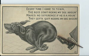 AT-078-Wire-Tail-Champ-Clark-MO-Stop-Kickin-My-Dog-Around-Postcard-RARE