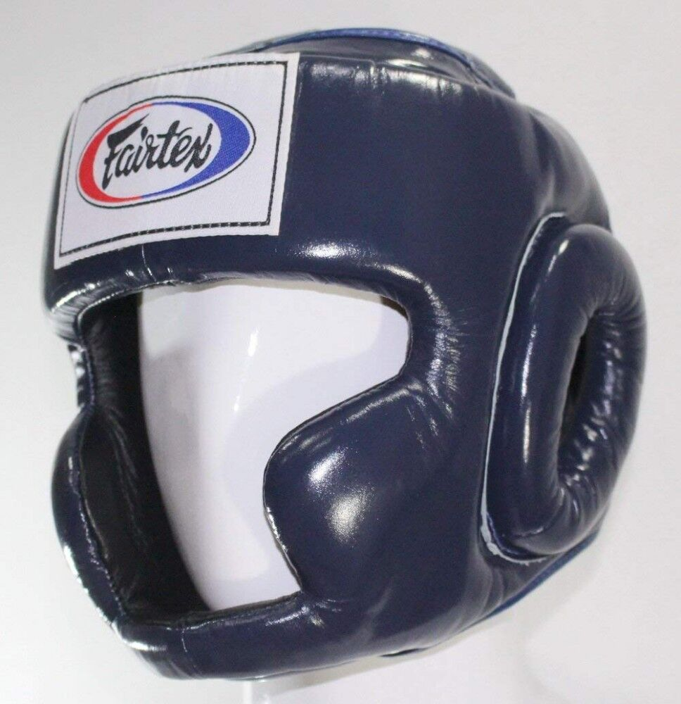 New Fairtex hg 3 full cover style head guard - Predective Boxing bluee Japan