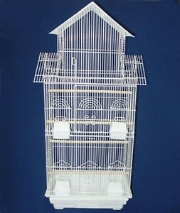 """NEW LARGE 3/8-Inch Bar Spacing Tall Roof Top Bird Cage, 18"""" x 14"""" x 39""""H 348"""