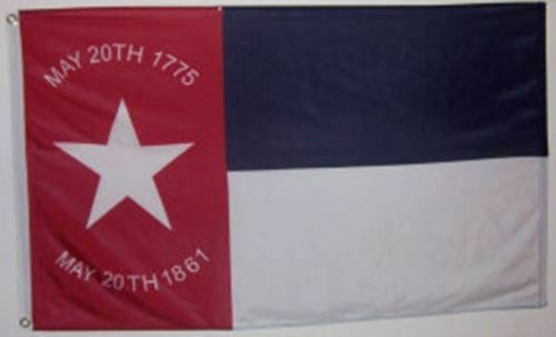 3x5 ft NORTH CAROLINA REPUBLIC CIVIL WAR FLAG May 20 1861 Print Polyester