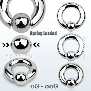 Image Is Loading 2pcs Surgical Steel Spring Loaded Captive Bead Ring
