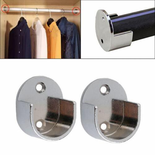 1 Pair 25mm Recess Bracket Curtain Rail Support Curtain Pole Bracket Wall Mount