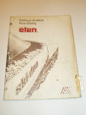 SKIDOO 1986  ELAN  PARTS CATALOG MANUAL