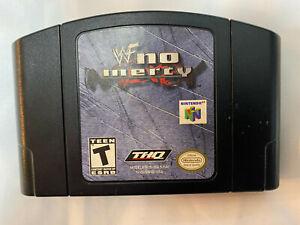 WWF No Mercy N64 Nintendo auténtico, limpiado, probado el rock-piedra fría