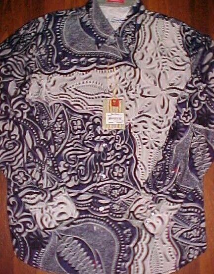 Robert Graham Contemporary Fit Wovens Dress Shirt XL New NWT Retail 198.00