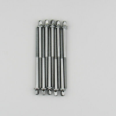 "20 New Drum Tension Rods 75mm 2 15//16/"" Chrome with Washers Drum Part"