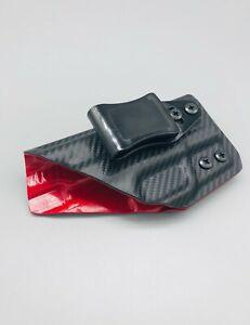 M-amp-P-4-034-M2-0-Compact-9mm-Black-Carbon-Fiber-amp-Red-Kydex-IWB-Holster-USA-Veteran