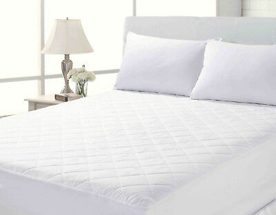 100/% EGYPTIAN COTTON 200 T//C QUILTED EXTRA DEEP EMPEROR SIZE MATTRESS PROTECTOR