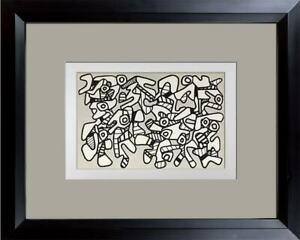 Jean-Dubuffet-LITHOGRAPH-Double-Limited-EDITION-Vacuum-Forms-w-Frame