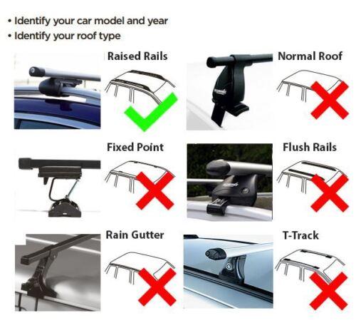 Locking Roof Rack Cross Bars fits Audi A4 2008-2015 Avant 5 door