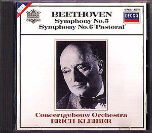Erich KLEIBER: BEETHOVEN Symphony No.5 & 6 Pastorale DECCA CD Concertgebouw  1952 | eBay