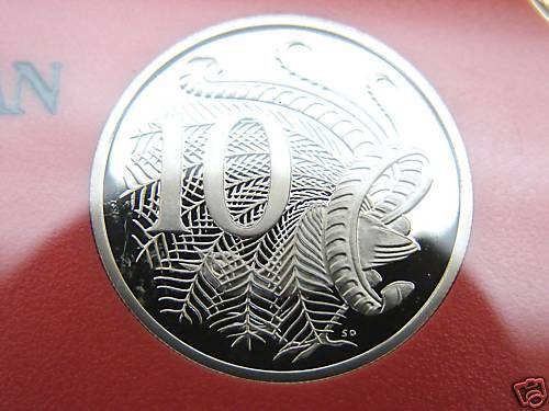 1990  10 cent proof coin Brilliant coin in 2 x 2 holder! Only 53,000 made