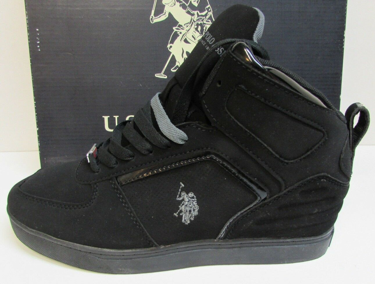 U.S. Polo Assn. Size 8.5  Black High Top Sneakers New Mens shoes