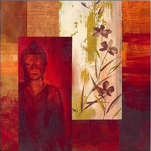 VERBEEK & VAN DEN BROEK   Buddha II IMMAGINE Telaio incastro TELA ZEN feng-shu